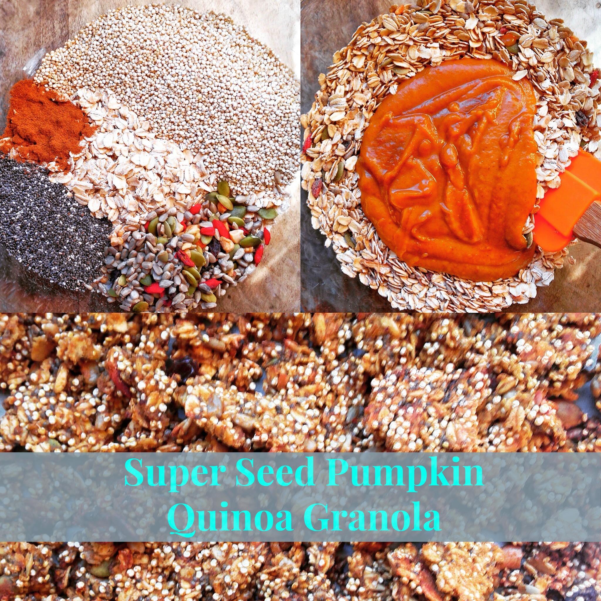 Pumpkin Quinoa Granola wBanner