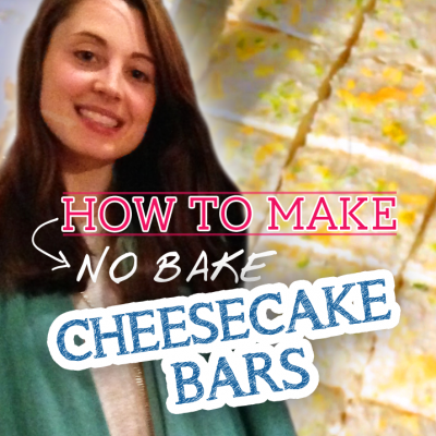 No Bake (No Cheese) Citrus Cheesecake Bars