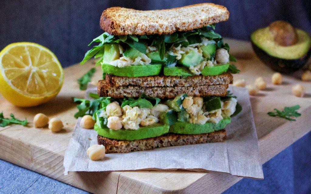 Creamy Chickpea Avocado Sandwich